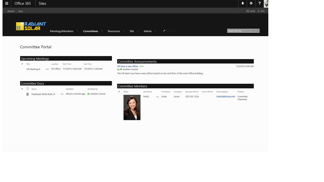 Committee portal