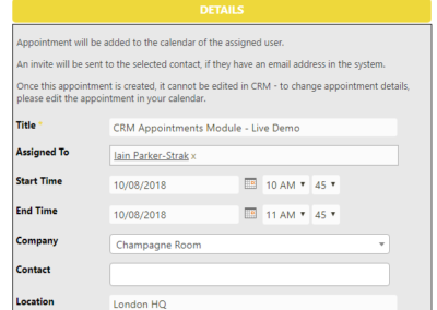 Create Appointment