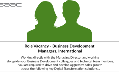 Role Vacancy – Business Development Managers, International
