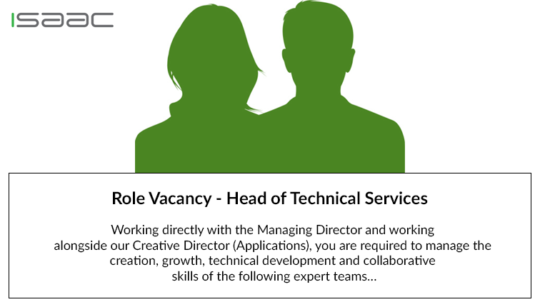 Role Vacancy – Head of Technical Services