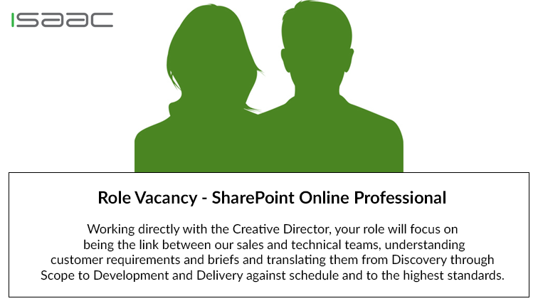 Role Vacancy – SharePoint Online Professional