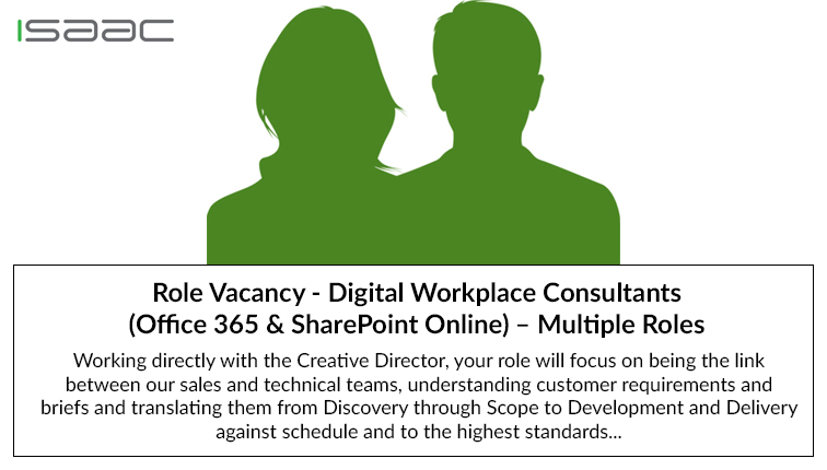 Role Vacancy – Digital Workplace Consultants, International