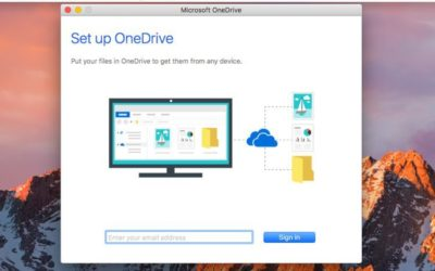 How to setup the OneDrive sync client on a Mac